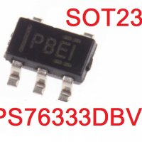 TPS76333DBVR SOT23-5 SMD MARKING - PBEI  OUT  3.3V / 150ma
