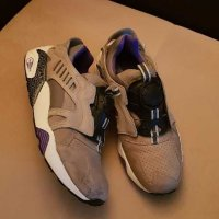 "Vintage Men's PUMA DISC BLAZE ""CRACKLE PACK"" Grey/Violet"