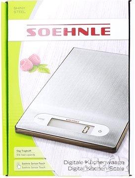 Soehnle Digitale Küchenwaage Shiny Steel
