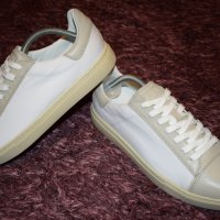 Belstaff Wanstead Sneakers Mens In White Canvas and Leather Sz 43